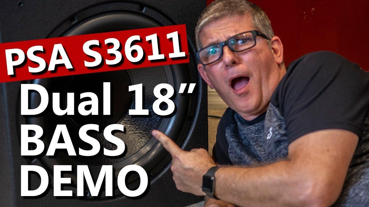 PSA 3611 Subwoofer Bass Demo