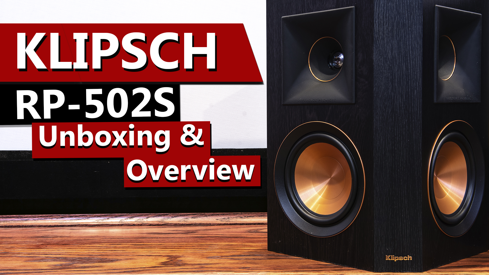 Klipsch RP-502S Reference Premiere Surround Speaker Unboxing and Overview