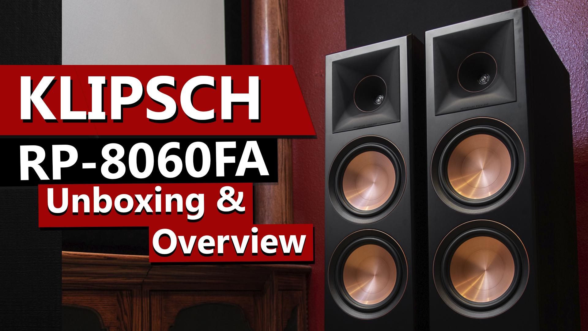 Klipsch RP-8060FA Dolby Atmos Floorstanding Speakers