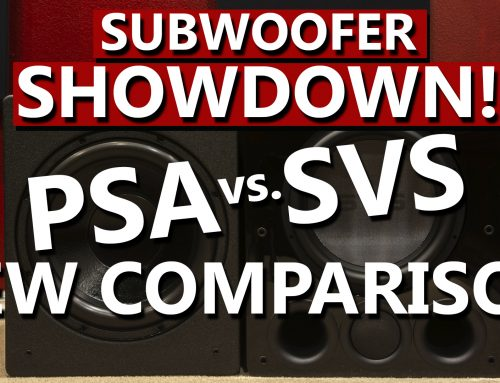 PSA 3611 vs SVS PB16 – REW Test Comparison