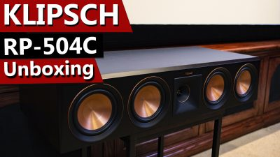 Klipsch Reference Premiere RP-504C Center Channel Speaker - Unboxing and Overview