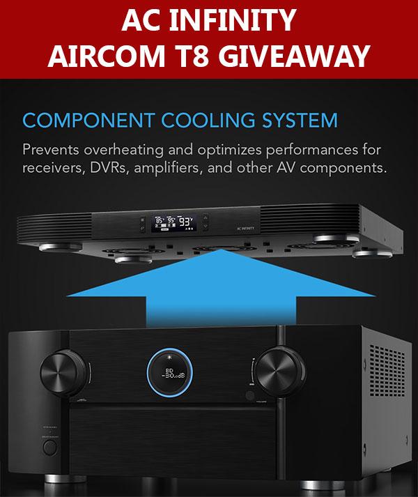 AC Infinity AIRCOM T8 Cooling Fan Giveaway