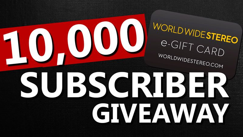 10 000 Subscriber World Wide Stereo Egift Card Giveaway
