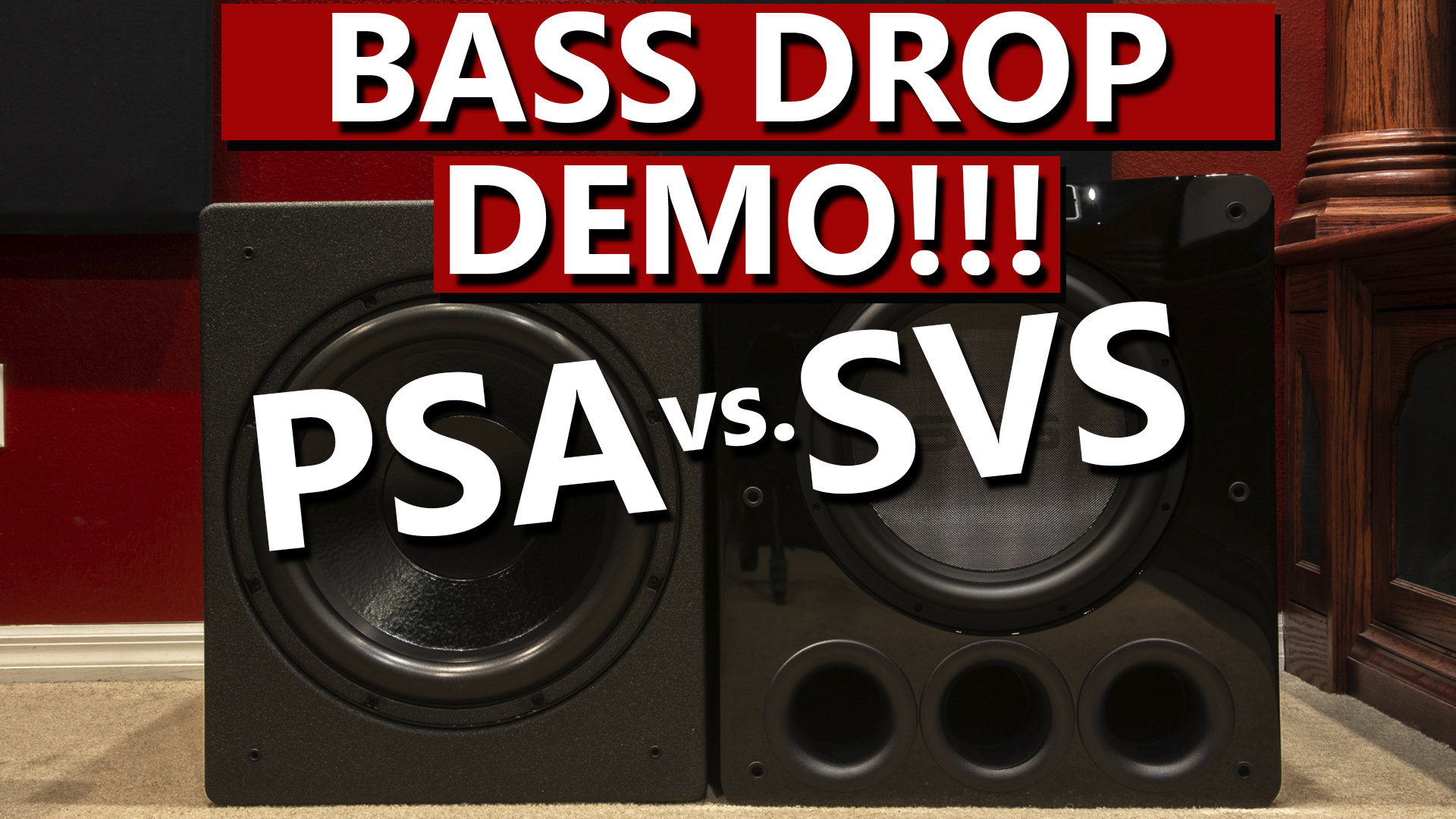 PSA S3611 vs SVS PB16 - Bass Drop Demo